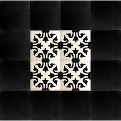 carreaux de ciment noir et blanc