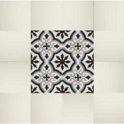 tapis de sol carreaux de ciment motif neogothique