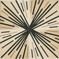 tapis carreaux ciment motif beige