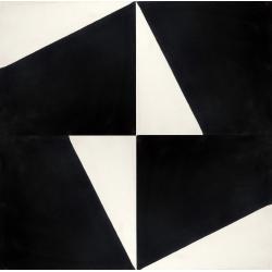 carreaux de ciment noir et blanc graphique