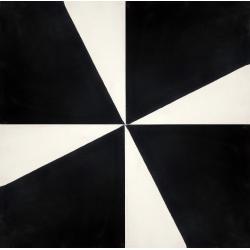 carreaux de ciment noir et blanc motif hélice