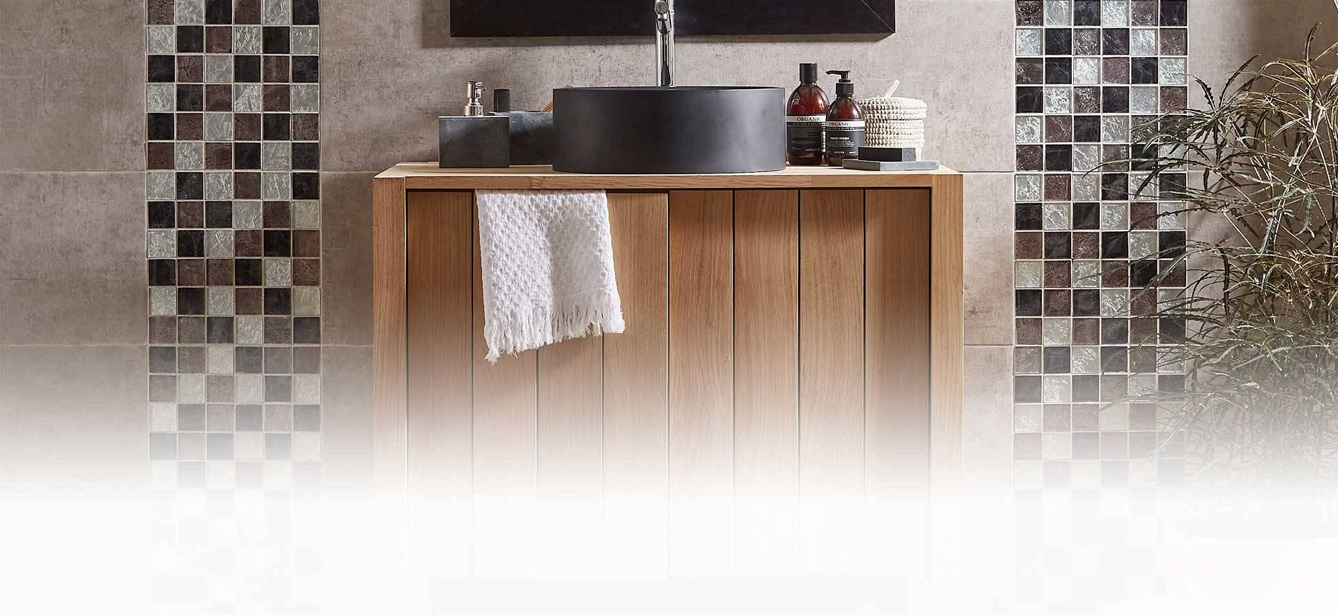 Plaque mosaïque salle de bain